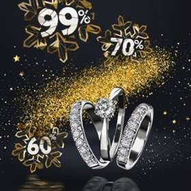 New Year SALE in all stores of the Moscow Jewelry Factory!